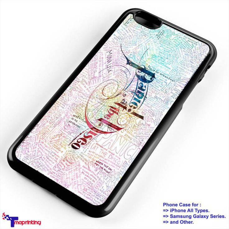 Panic at the Disco Lyric Quotes Collage - Personalized iPhone 7 Case, iPhone 6/6S Plus, 5 5S SE, 7S Plus, Samsung Galaxy S5 S6 S7 S8 Case, and Other