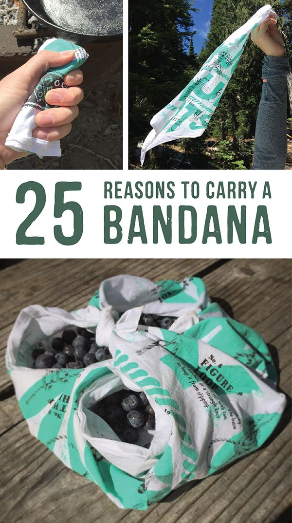25 reasons to carry a bandana. A bandana is one of the most versatile pieces of gear you can have in your bag. Make sure you know how to make the most of it. Sign up for our newsletter and get FREE SHIPPING on our awesome collection of bandanas.