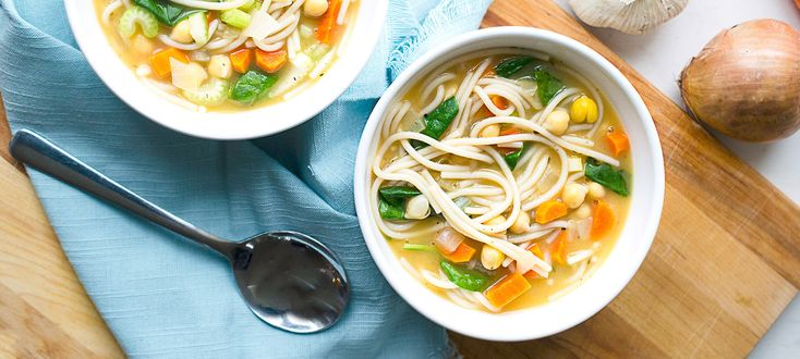 Ideal for when you're nursing a cold, or anytime you want something warm and comforting. This flavorful vegan noodle soup recipe comes together in just...
