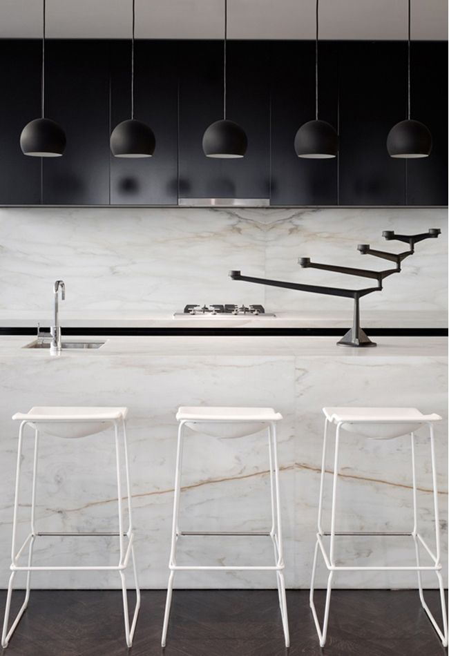 Black & White Minimalist Kitchen Counter   Kitchen #modern