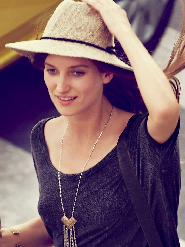 Free People Crochet Canvas Brimmed Hat, $38.00