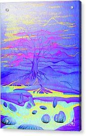 Tree Of Life - Fantasy Art Acrylic Print by Simon Mark Knott