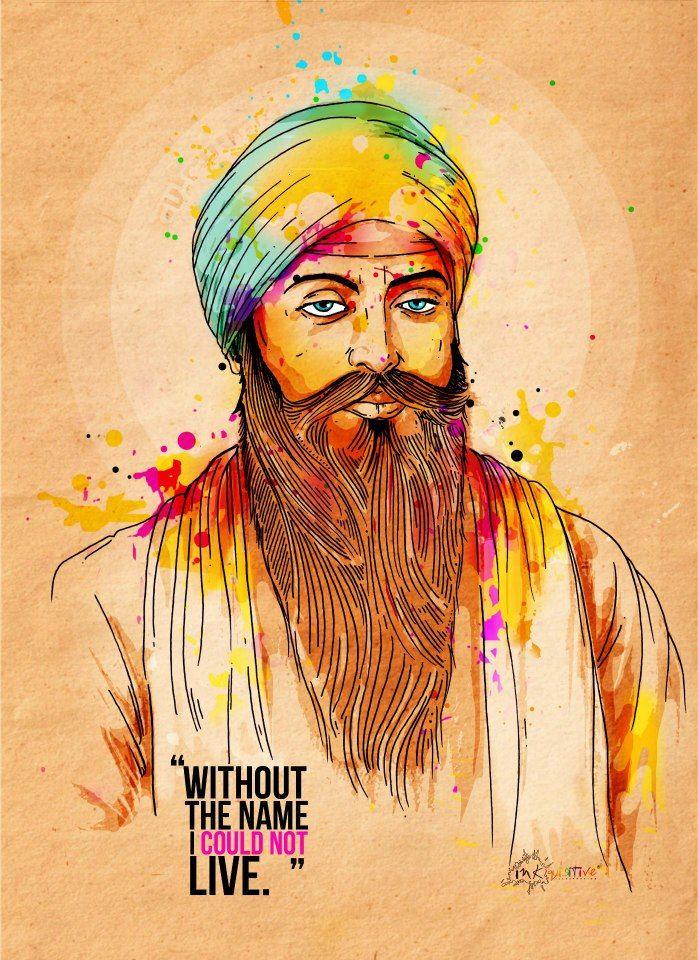 Guru Angad Dev Ji | Inkquisitive Illustration