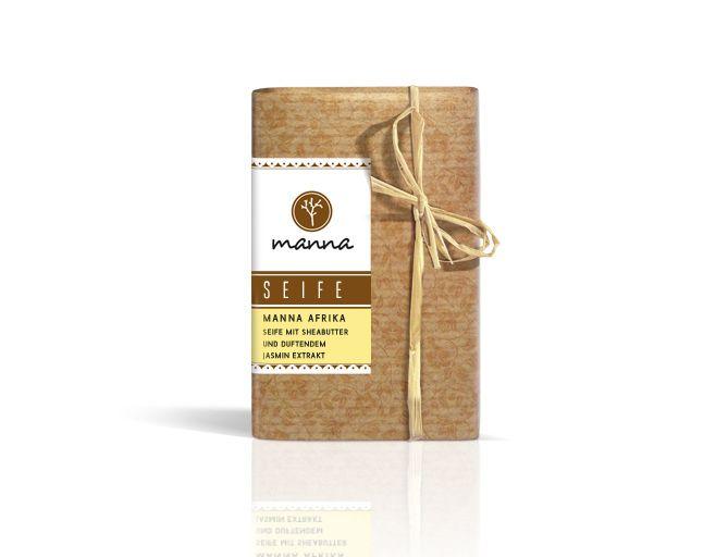 Manna Afrika Seife mit Sheabutter und duftendem Jasmin Extrakt