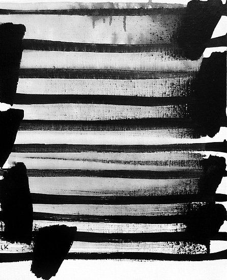 """Laurent Koller, """"The L series no.3"""", acrylic on canvas"""
