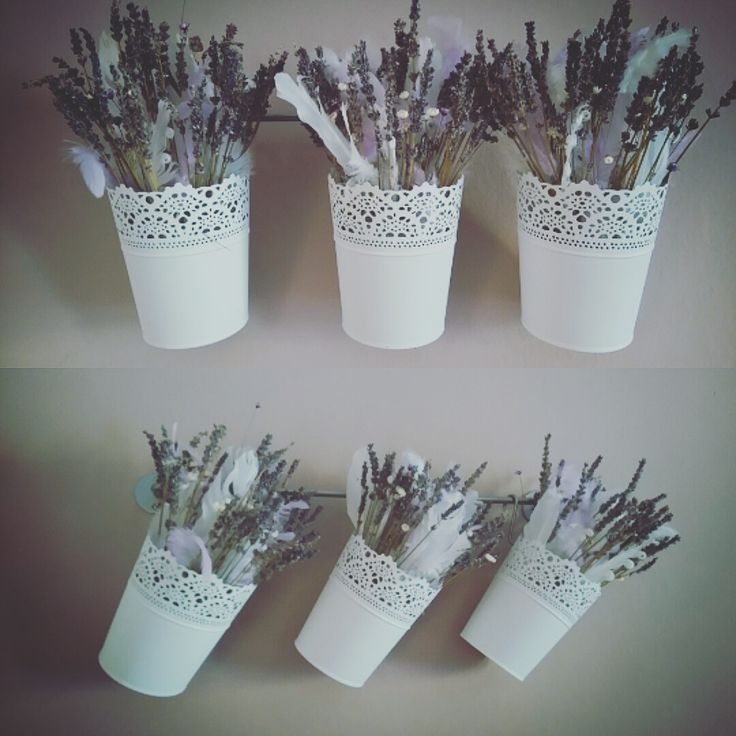 Lavender Feather Decoration Romantic Provence Dry Flowers
