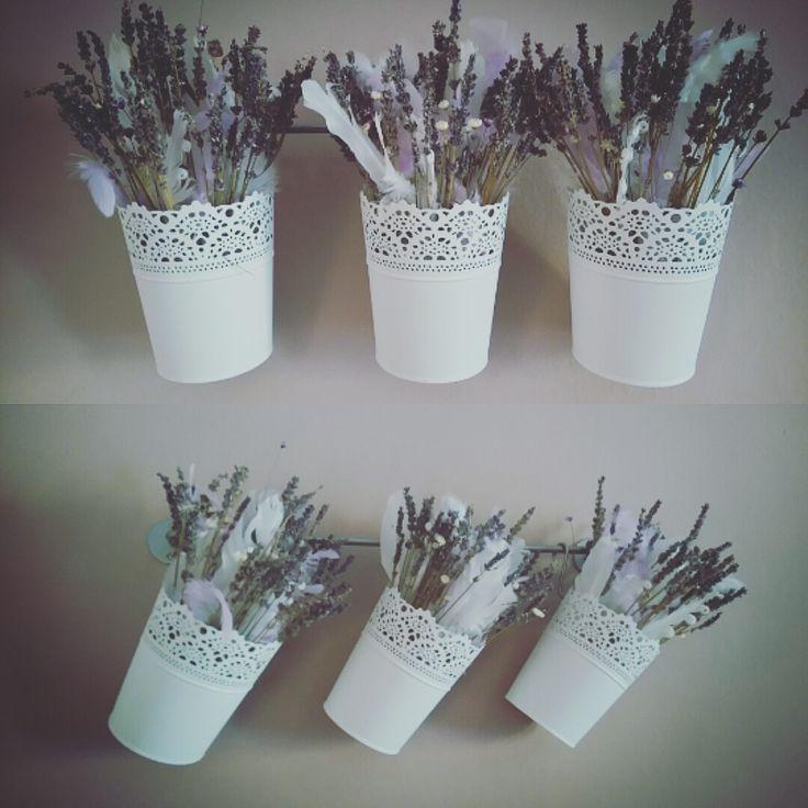 Lavender Feather Decoration Romantic Provence Dry Flowers