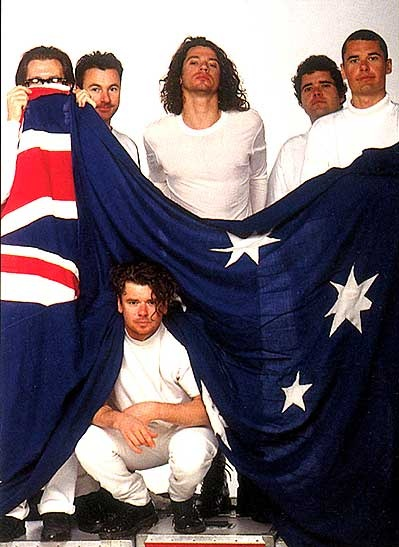INXS ….. love, love, love this! Aussie flag nice touch <3 they were once the greatest band in the world!
