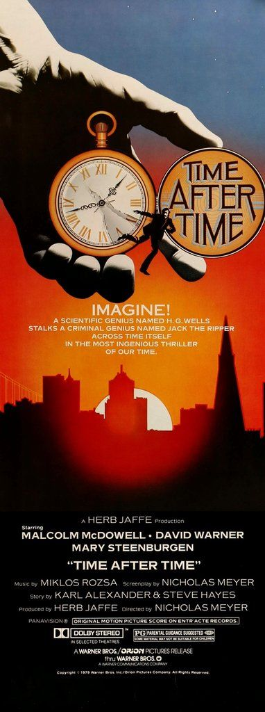 Time After Time (1979) Original Insert Movie Poster