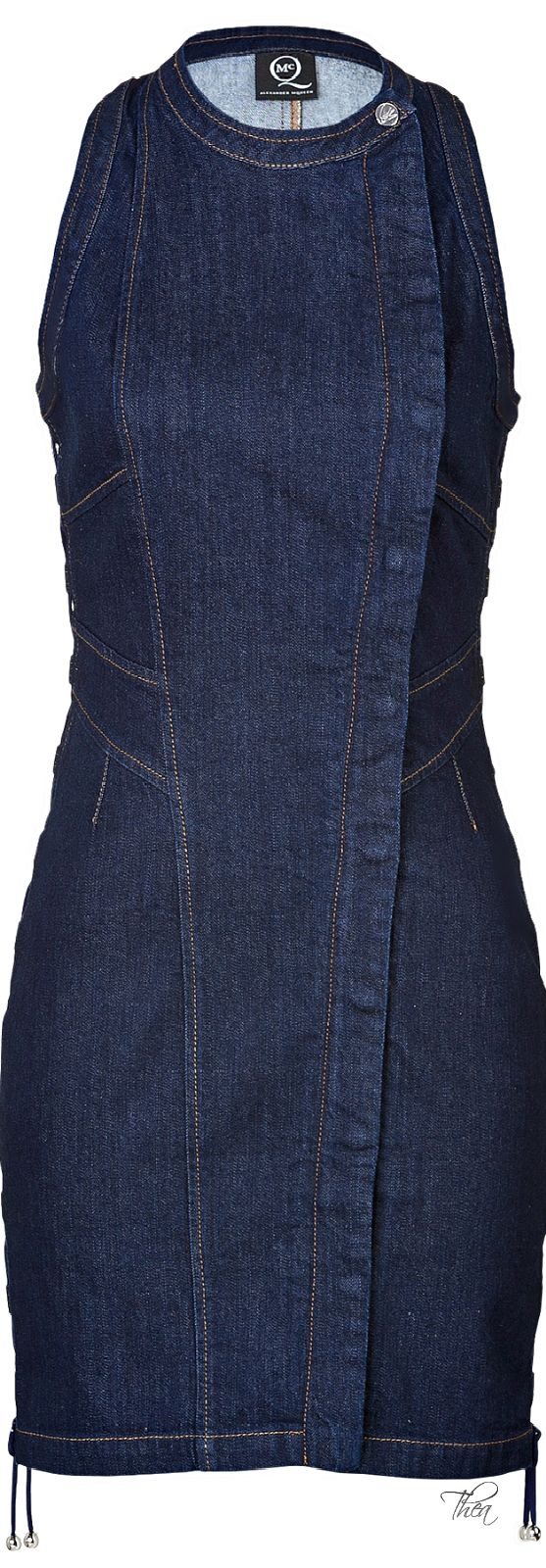 McQ by Alexander McQueen ● Blue Bodycon Denim Dress