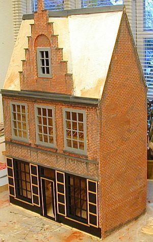 Dutch dollhouse: Color, Vintage Dollhouses, Dollhouses Artistic, Minis Dollhouses, Dollhouses Ii, Dolls House, Dollhouses Outside