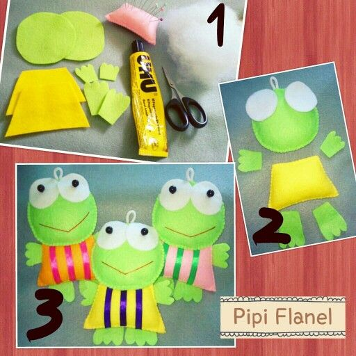 Kero Keroppi Feltdoll made by Pipi Flanel.. Wanna see our feltdolls collection? Please visit our website at www.pipiflanel.com thank you :)