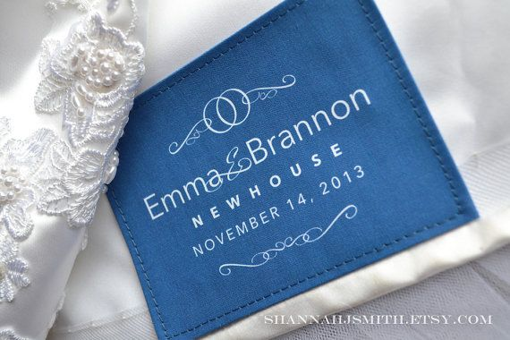 personalized wedding dress label