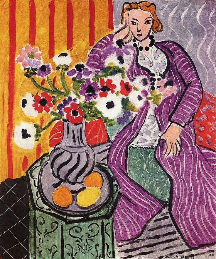 Henri Matisse / Purple Robe and Anemones (Robe violette et Anemones), 1937