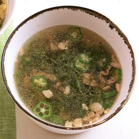 めかぶと豚肉のエスニックスープ | 沼口ゆきさんのスープの料理レシピ | プロの簡単料理レシピはレタスクラブニュース
