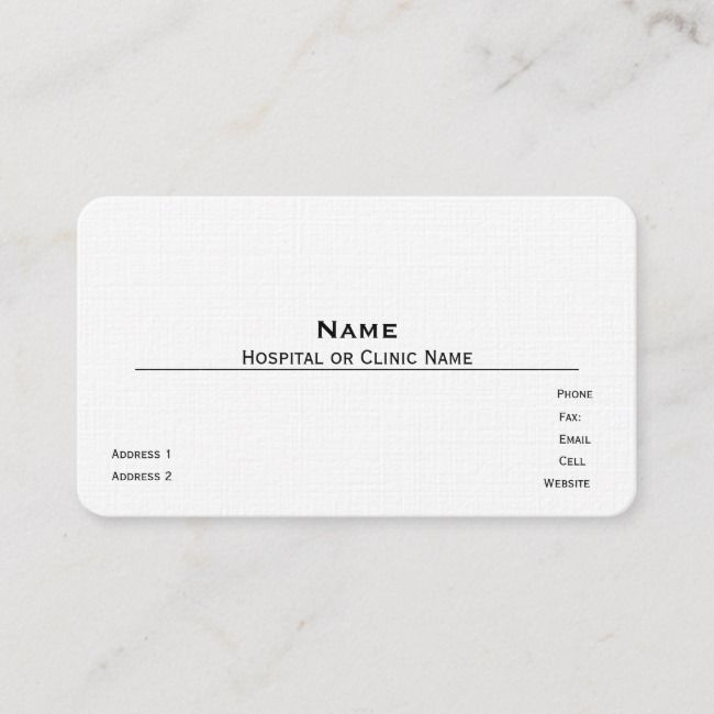 Create Your Own Business Card Zazzle Com Linen Business Cards Medical Business Card Doctor Business Cards