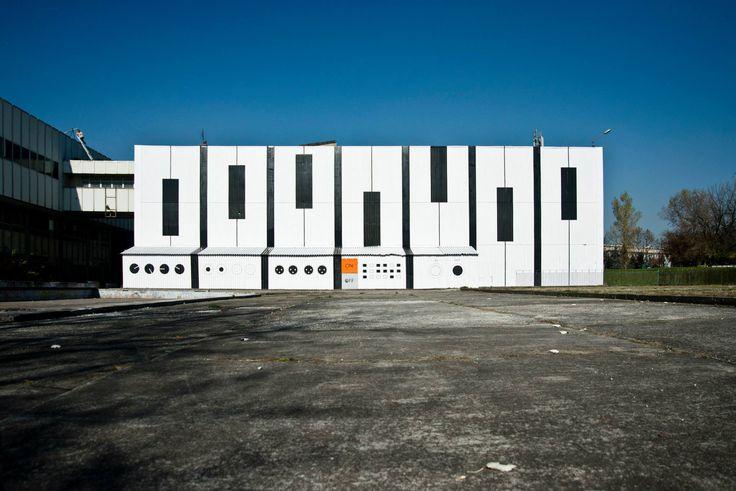 #Audiomural NCK, #Mural #Kraków – #NowaHuta, #streetart Październik 2013, projekt: #AleksandraToborowicz, koordynacja: #MichalPalasz foto: #EdytaDufaj