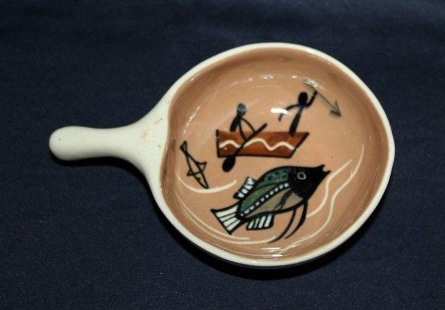 Australian Pottery RAMEKIN By GEMBA With Aboriginal Fishing Scene