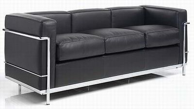 Lc2 three seater sofa le corbusier 1928 for the home for Le corbusier lc2 nachbau