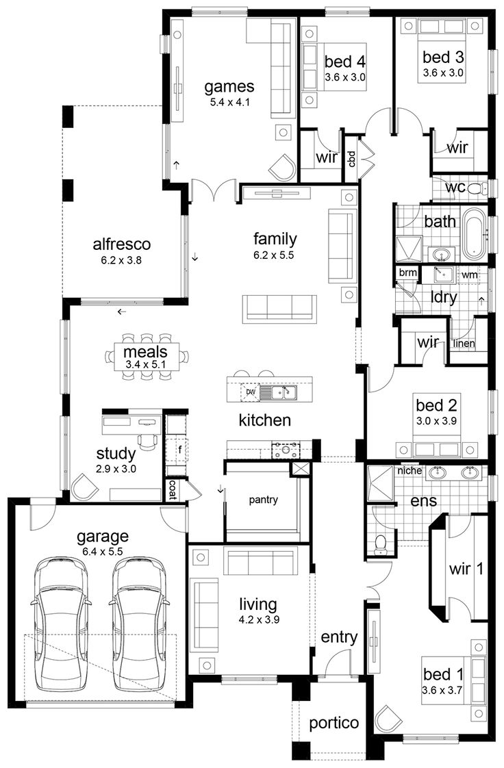 Hello, welcome back to another floor plan! This time I have a generous 4 bedroom home to show you. There is lots of love about this home. The storage is great with a perfect walk-in-robe in the master, a huge pantry and a walk-in-linen in the laundry.
