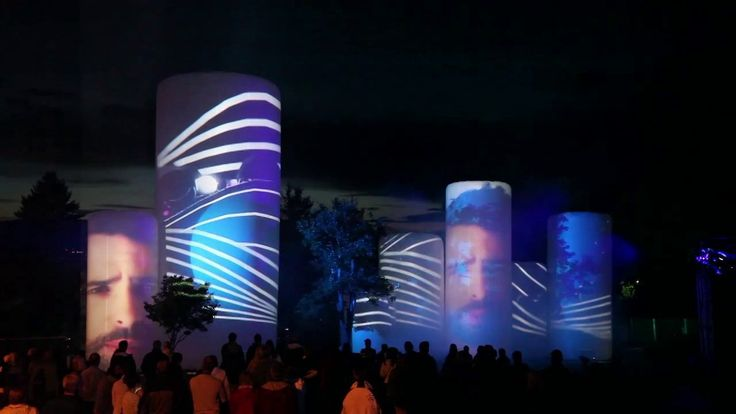 """Lucion - """"TUBE"""", light show and video mapping http://www.lucionmedia.ca"""