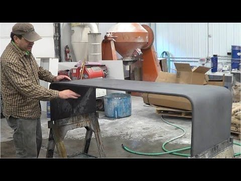 Warped Concrete Coffee Table - YouTube