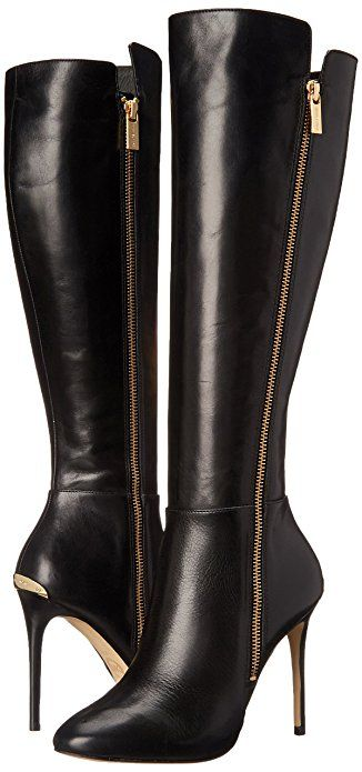 MICHAEL Michael Kors Womens Clara Boot Black Knee-High