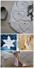 The Olive Dragonfly: White dough Christmas decorations - Pin It Do It