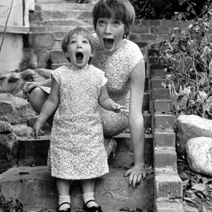 Shirley MacLaine and her daughter Sachi Parker, shot by Allan Grant, 1959.
