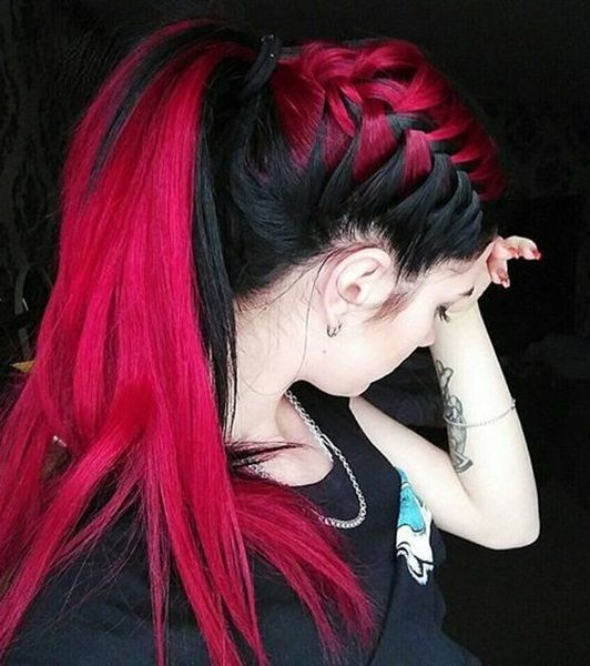 Red ombre hairstyle ideas for 2018
