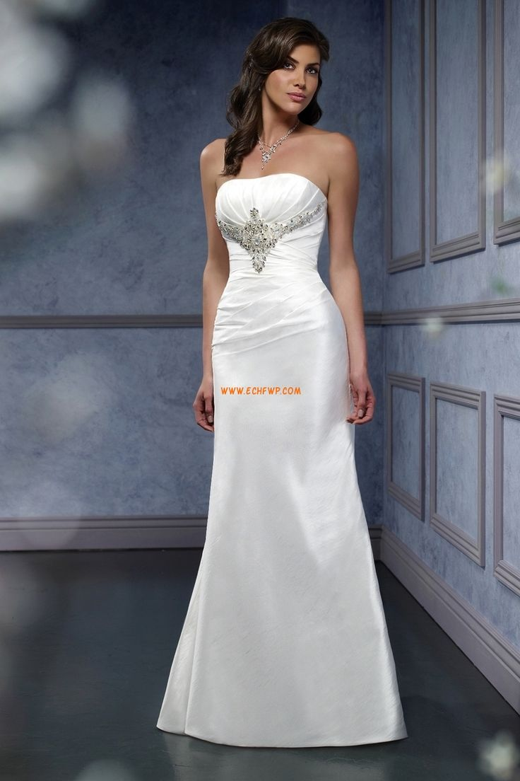 Vår 2014 Ärmlös Bärlbroderi Lyx Bröllopsklänningar