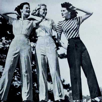 1940s women fashion trends
