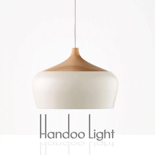 Dia 30cm Nordic restaurant bar coffee shop Wood & aluminum Pendant light personality simple retro wood combination Pendant lamp