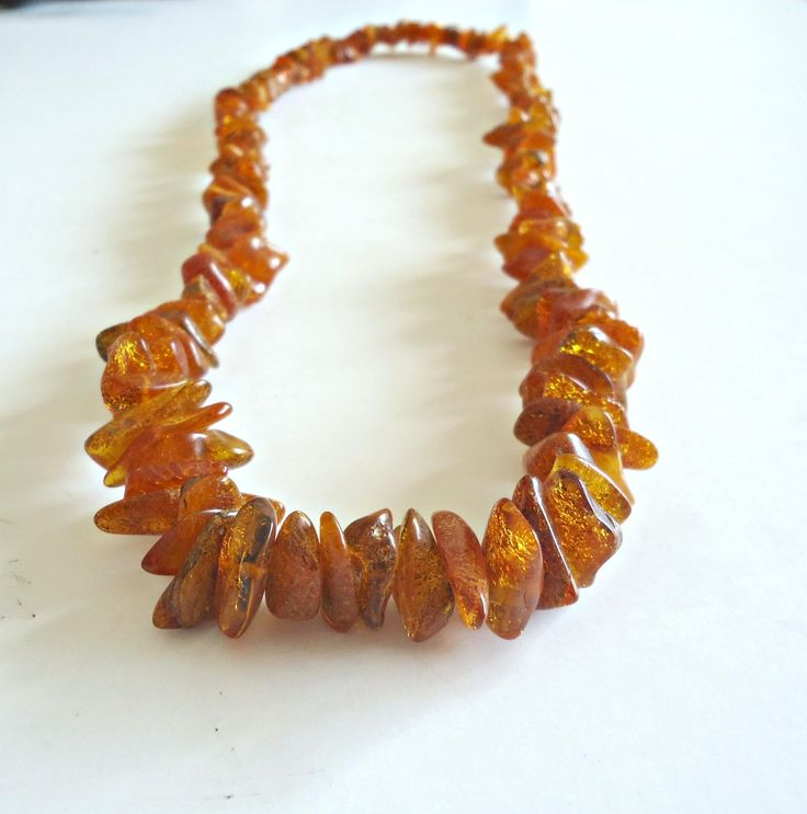 "Vintage Genuine Baltic Amber Nugget Beads Necklace 24"" by TreasureCoveAlly on Etsy"