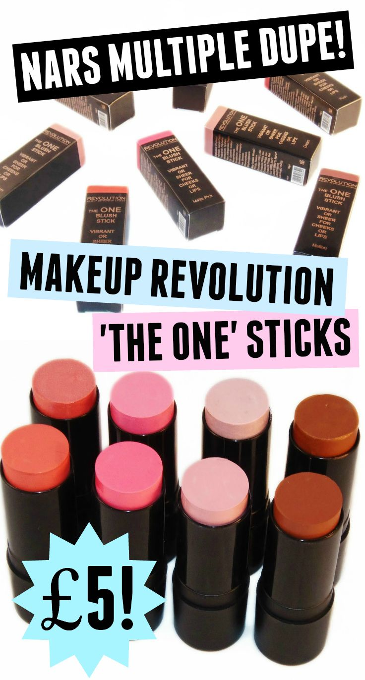 Nars Multiple DUPE! Makeup Revolution 'The One' Blush Sticks #dupes