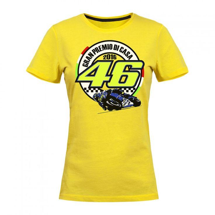 """Woman 2017 VALENTINO ROSSI 46 Misano GP """"Il Gran Premio Di Casa"""" T-shirt VR46 Maglia Moto GP Sport VR 46 THE DOCTOR Shirt"""