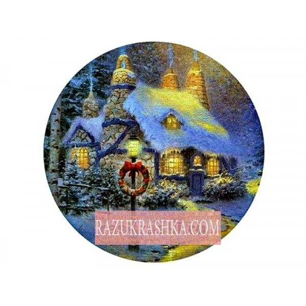Папертоль «Миниатюра зима веночек». Купить за 150 р. в магазине Разукрашка.