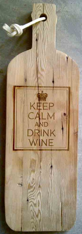 Wine bottle cheese board 'Keep Calm' - Such beautiful ideas by Tarryn Nieuwstad and Robyn Cronje