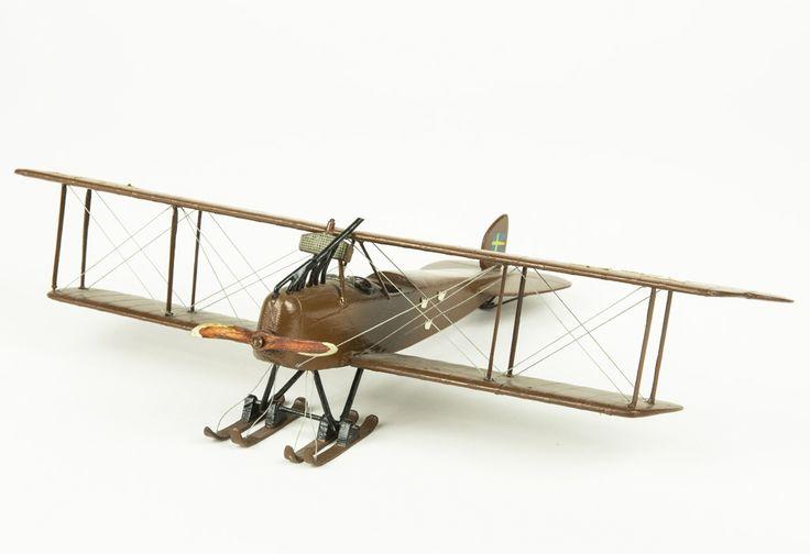 Model aeroplane Södertälje verkstäders SW 16   Flygvapenmuseum   CC BY