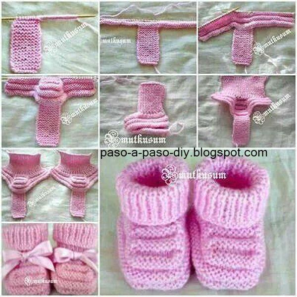 Con lana sedificada o lana bebé y agujas apropiadas, teje una tira de 5 cm de ancho en punto Santa ...