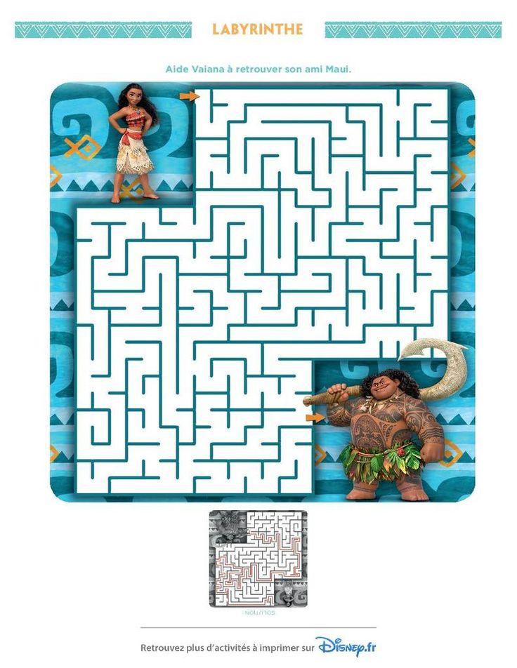 Jeu de labyrinthe moana