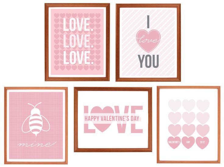 {Freebie} Valentine's Day Art Prints! on http://pizzazzerie.com