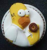 Resultado de imagen para homero torta de cumpleaños