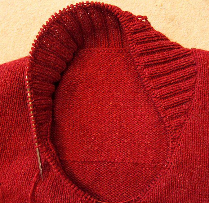 Einen Schalkragen stricken | Tichiro - knits and cats