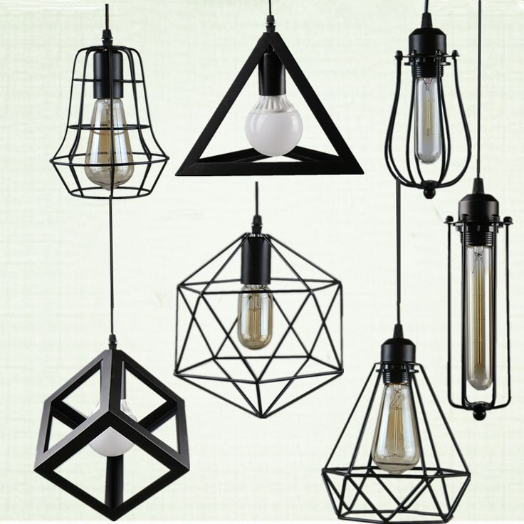 Retro indoor lighting Vintage pendant light LED lights 24 kinds iron cage lampshade warehouse style light fixture >> http://s.click.aliexpress.com/e/AMJeYRv