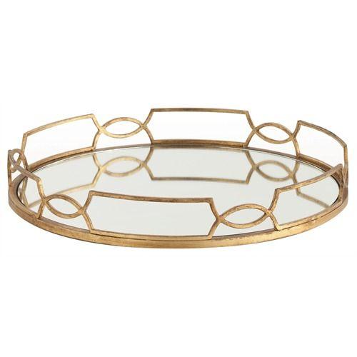 Cinchwaist Gold Iron/Mirror Tray