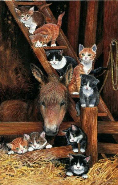 Barn Cats - Chrissie Snelling. Saved by monkeetree.com