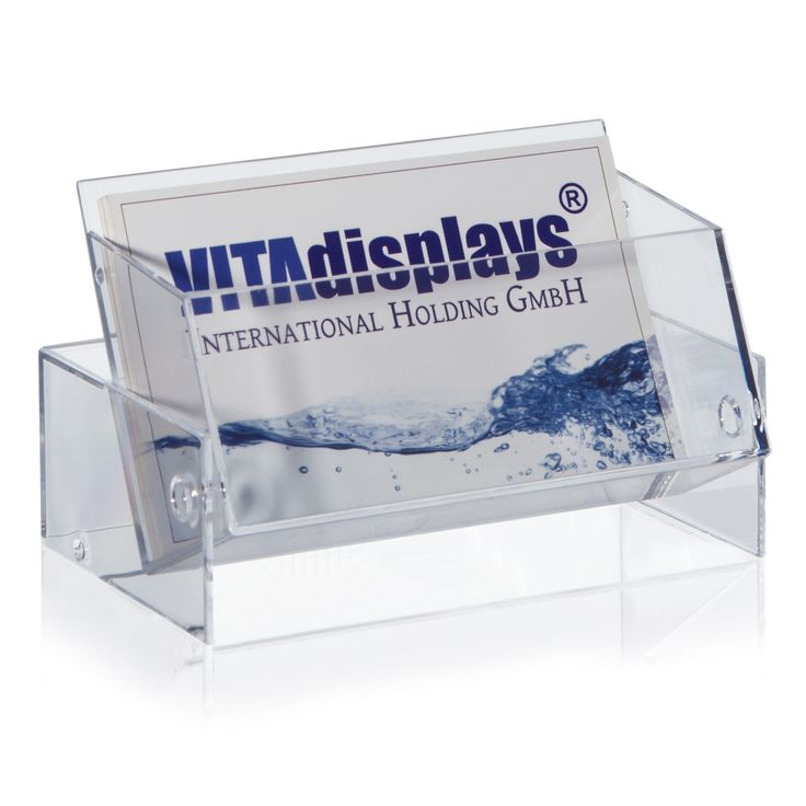 Visitenkartenbox von VITA displays® im Querformat. Die transparente Visitenkartenbox ist besonders praktisch für unterwegs und eignet sich sowohl für die sichere Aufbewahrung als auch die Präsentation Ihrer Visitenkarten. Die Visitenkartenbox lässt sich mit wenigen Handgriffen von einer Box in einen Visitenkartenständer verwandeln und sorgt für eine kundenorientierte Präsentation Ihrer Visitenkarten. Dieser Artikel ist auch in weiteren Größen erhältlich. Dieser Artikel eignet sich…
