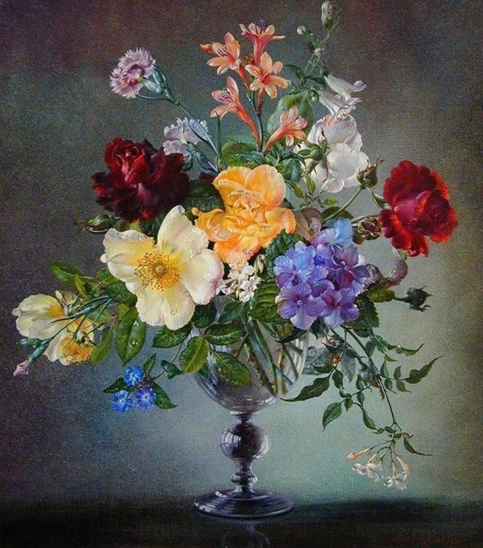 Cecil Kennedy 1905-1997 | British flowers painter
