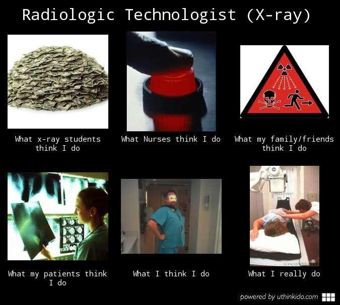 Radiologic technologist x ray, What people think I do, What I really do meme image - uthinkido.com